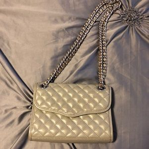 Quilted Gray Rebecca Minkoff Crossbody
